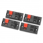 DIY WP2-3 Terminal Block Binding Post - Black + Red (4-Piece Pack)