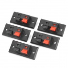 DIY WP2-2 Terminal Block - Black + Red (5-Piece Pack)