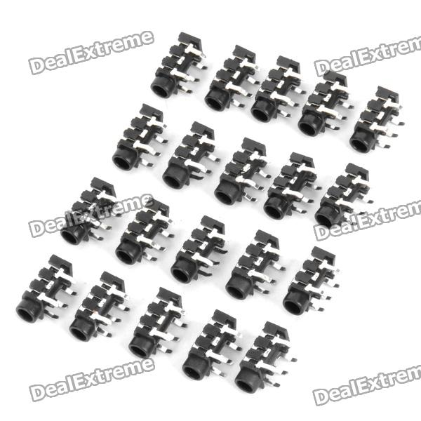 ST-009 DIY estéreo de 3.5mm Audio Jack (20-Piece Pack)