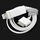 Dexim USB Charging & Data Cable w/ Blue Visible EL for iPhone / iPad / iPod - White (70cm-Length)