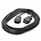 OBD2 16-Pin Male to Female Connector Cable - Black (10M-Cable Length)
