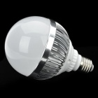 E27 12W 1100LM 6000K Cold White Light 12-LED Globular Bulb (AC85~265V)