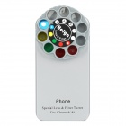 10-in-1 Special Effects Lens and Filter Turret ABS Black Case for iPhone 4 / 4S - Silver Grey