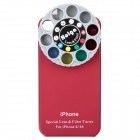 Creative Protective Back Case with Special Lens & Filter Turret for iPhone 4/4S - Red