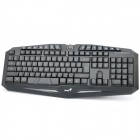 Stylish USB Gaming 118-Key Water Resistant Keyboard with Backlight - Black