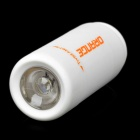Mini USB Rechargeable Waterproof 5000K 25-Lumen 2-Mode White LED Flashlight - White