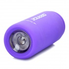 Mini USB Rechargeable Waterproof 5000K 25-Lumen 2-Mode White LED Flashlight - Purple