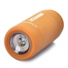 Mini USB Rechargeable Waterproof 5000K 25-Lumen 2-Mode White LED Flashlight - Coffee
