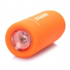 Mini USB Rechargeable Waterproof 5000K 25-Lumen 2-Mode White LED Flashlight - Orange