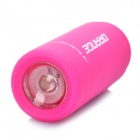 Mini USB Rechargeable Waterproof 5000K 25-Lumen 2-Mode White LED Flashlight - Deep Pink