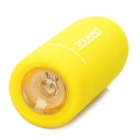Mini USB Rechargeable Waterproof 5000K 25-Lumen 2-Mode White LED Flashlight - Yellow