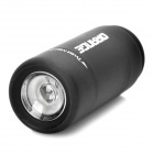 Mini USB Rechargeable Waterproof 5000K 25-Lumen 2-Mode White LED Flashlight - Black