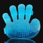 Massaging Bathing Palm-Brush - Translucent Blue