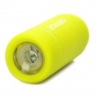 Mini USB Rechargeable Waterproof 5000K 25-Lumen 2-Mode White LED Flashlight - Green