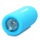 Mini USB Rechargeable Waterproof 5000K 25-Lumen 2-Mode White LED Flashlight - Blue