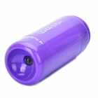 Mini USB Rechargeable 5000K 25-Lumen 2-Mode White LED Flashlight w/ TF Card Reader - Purple