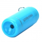 Mini USB Rechargeable 5000K 25-Lumen 2-Mode White LED Flashlight w/ TF Card Reader - Blue