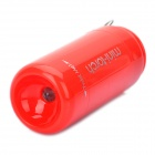 Mini USB Rechargeable 5000K 25-Lumen 2-Mode White LED Flashlight w/ TF Card Reader - Red