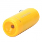 Mini USB Rechargeable 5000K 25-Lumen 2-Mode White LED Flashlight w/ TF Card Reader - Yellow