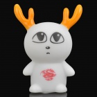 Cute Animal Style Color Changing Night Light Lamp - White (3 x LR44)