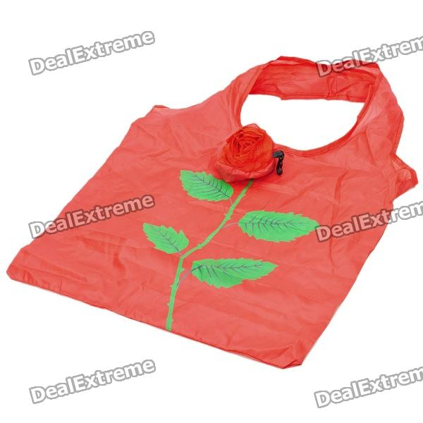 Compressed Rose Style Carrying Bag - Red (33 x 37cm)