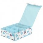 Bra Underwear Storage Organizer Box - White + Blue
