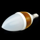 E14 4,2 W 400-Lumen 3000 ~ 3500K Warm White Light 4-LED-Lampen-Birne (AC 85 ~ 265V)