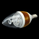 E14 4.2W 400-Lumen 3000~3500K Warm White Light 4-LED Lamp Bulb - Golden + White (85~265V)