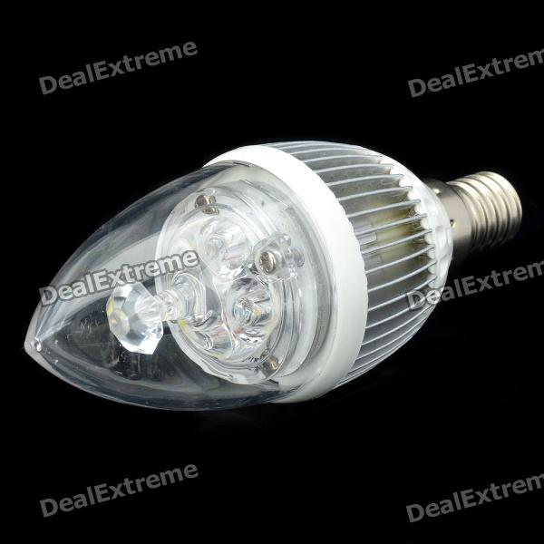 купить E14 4.2W 400-Lumen 6000~6500K Neutral White Light 4-LED Lamp Bulb (85~265V) онлайн