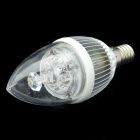 E14 4.2W 400-Lumen 6000~6500K Neutral White Light 4-LED Lamp Bulb (85~265V)