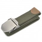 Tactical Durable Canvas Belt w/ Victorinox Logo Pattern Alloy Buckle - Army Green
