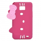 Hello Kitty Style Protective Silicone Case for Samsung i9100 - Deep Pink
