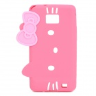 Hello Kitty Style Protective Silicone Case for Samsung i9100 - Pink