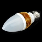 E27 4.2W 400-Lumen 3000~3500K Warm White Light 4-LED Lamp Bulb (85~265V)
