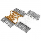 Fashion Stretchy Double Hair EZ Combs Clips - Pair