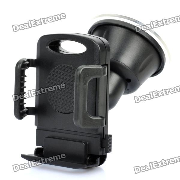Car Swivel Mount Holder for Iphone 4 / 4S - Black windshield universal swivel rotation car mount holder for cell phone gps psp iphone black
