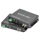 2-CH Video/1-CH Reverse Digit/1-CH Ethernet Data Optical Fiber Media Converter Transmitter Receiver