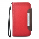 KALAIDENG Protective PU Leather Case w / Strap für HTC G21 / X315E / G14XL - Rot + Kaffee