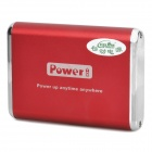 Portable 3000mAh Mobile External Power Battery Pack with Charging Adapters - Red