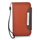 KALAIDENG Protective PU Leather Case w/ Strap for HTC G21 / X315E / G14XL - Brown + Coffee