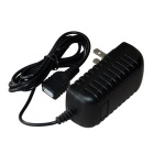 USB Female Socket AC Power Adapter for ASUS TF101 / TF201 - Black (AC 100~240V / 2-Flat-Pin Plug)