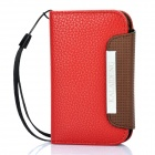 KALAIDENG Protective PU Leather Flip-Open Case for Samsung S5368 - Red + Coffee