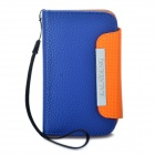 KALAIDENG Protective PU Leather Case w / Strap für Samsung S5368 - Blau + Orange