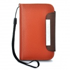 KALAIDENG Protective PU Leather Case w/ Strap for Samsung S5368 - Brown + Coffee