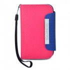 KALAIDENG Protective PU Leather Case w / Strap für Samsung S5368 - Rosy + Blau