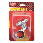 Car Steering Wheel Aid Spinner Knob Power Handle Grip Ball - Silver + Red