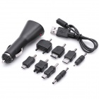 USB Car Cigarette Power Charger w/ Cell Phone Adapters (12V)
