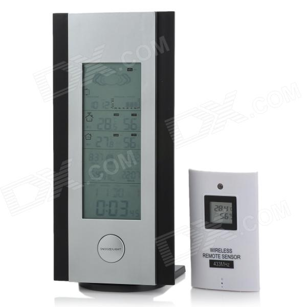 "5.4"" LCD Wireless Weather Station w/ Alarm Clock / Barometer / Calendar / Hygrometer / Thermometer"