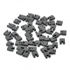 2.54mm Mini Jumper Connector - Black (50-Piece Pack)