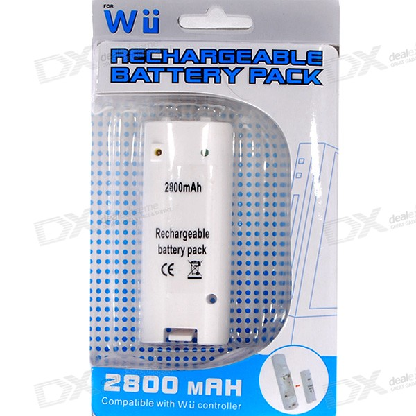 Compact 2800mAh Rechargeable Battery Pack for Wii Remote